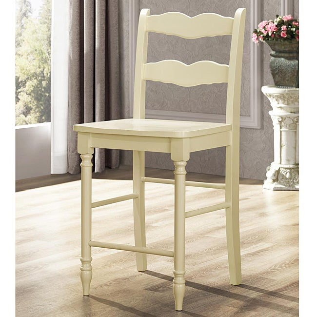 Shop Cyprus Buttercream Ladder Back 24 Inches Counter