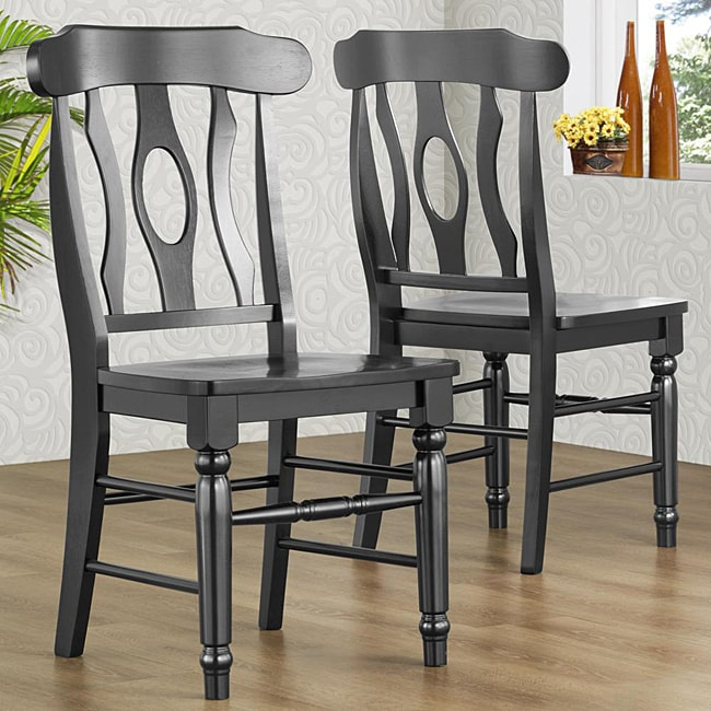 Shop Cedar Hills Antique Black 18 Inch Dining Chairs Set Of 2