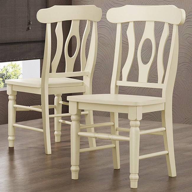 cedar hills 18 inch curved back antique white dining