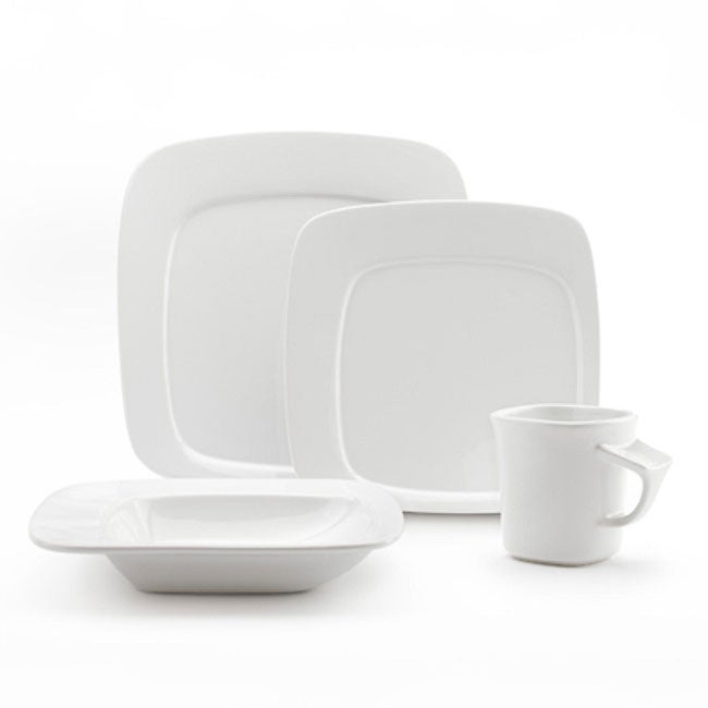 Studio Nova by Mikasa Gourmet Basic Compose White 16-piece Dinnerware Set