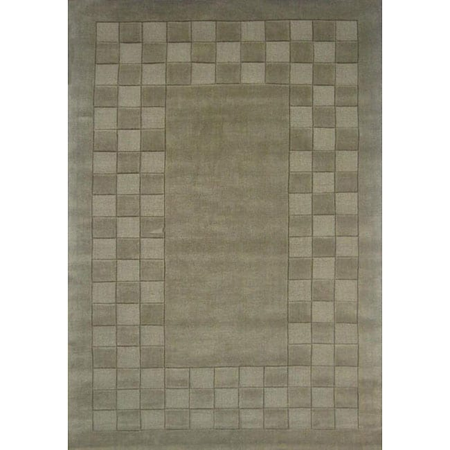 Hand-tufted Trendy Green Wool Rug (5' x 8')