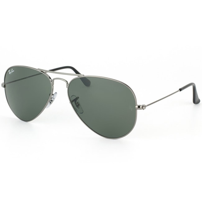 Ray-Ban Unisex Gunmetal Aviator Sunglasses