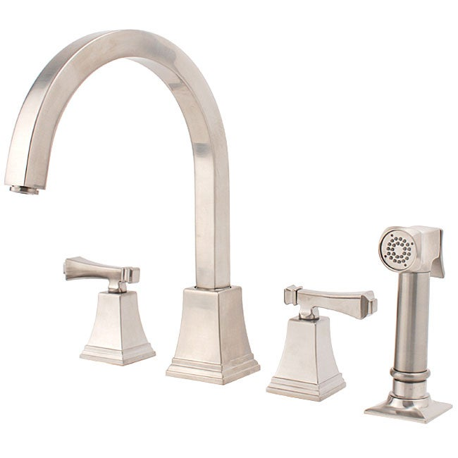 Fontaine Faucets : Fontaine Patiglia Brushed Nickel Kitchen Faucet/ Side Spray - Free ...
