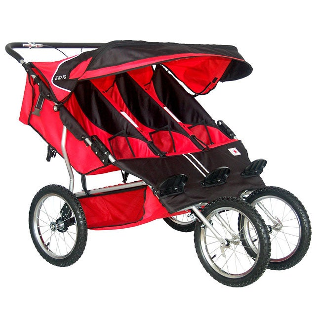 Bebelove Red Triple Jogging Stroller Free Shipping Today