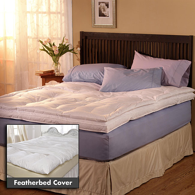 Extra-filled Down-top Featherbed and Cover Set