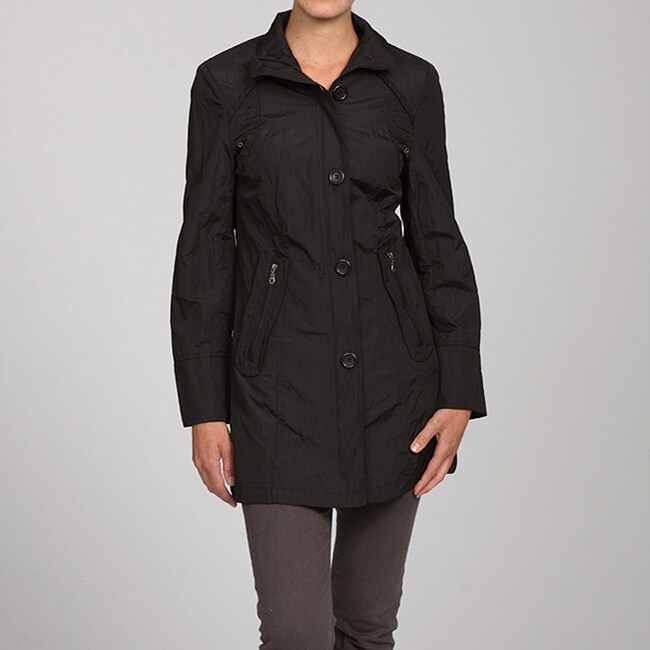 Women's Stand Collar Belted Jacket