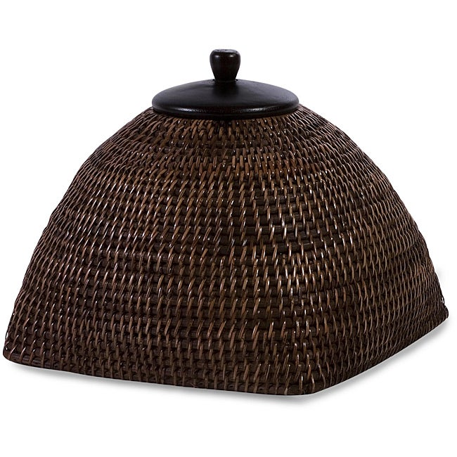 Handcrafted Rattan Delhi Large Lidded Box