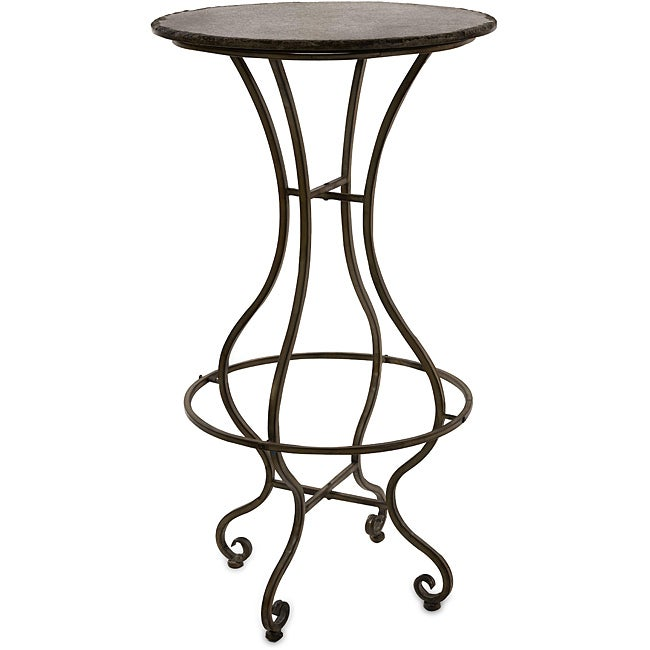 Iron and Stone Argento Side Table