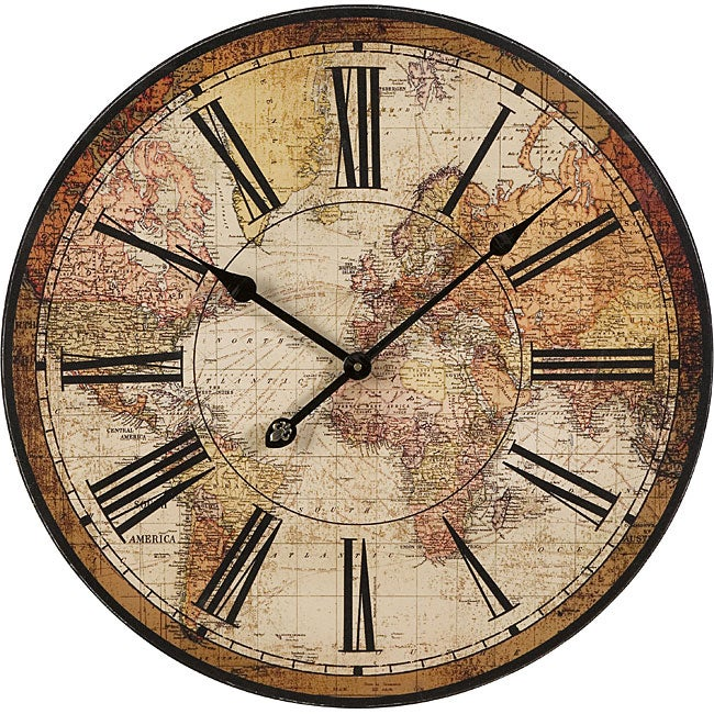 Handcrafted Regent Geographic Wall Clock