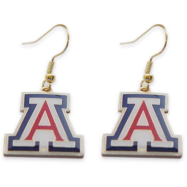Arizona Wildcats Dangle Logo Earrings