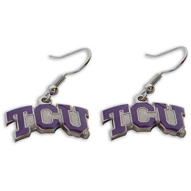 Texas Christian Horned Frogs Dangle Logo Earrings