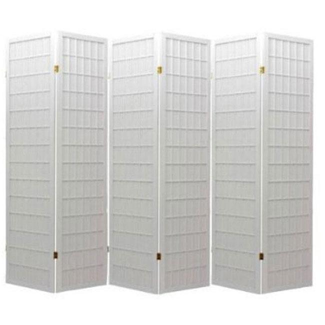 Oriental Shoji White 6-panel Room Divider Screen