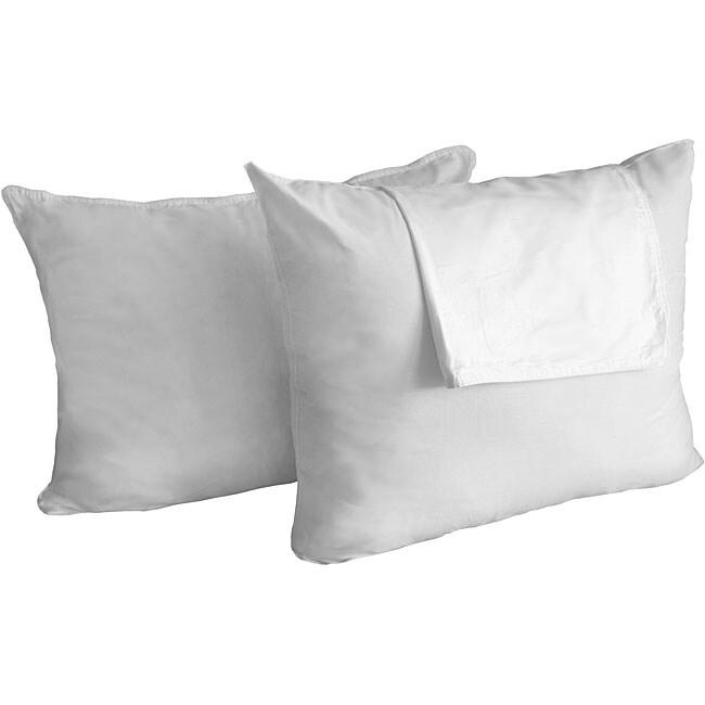 Sleepline Queen-size Zip Cover Feather Pillows (Set of 2)