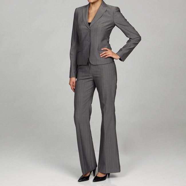Anne Klein Women's Pinstripe Pant Suit
