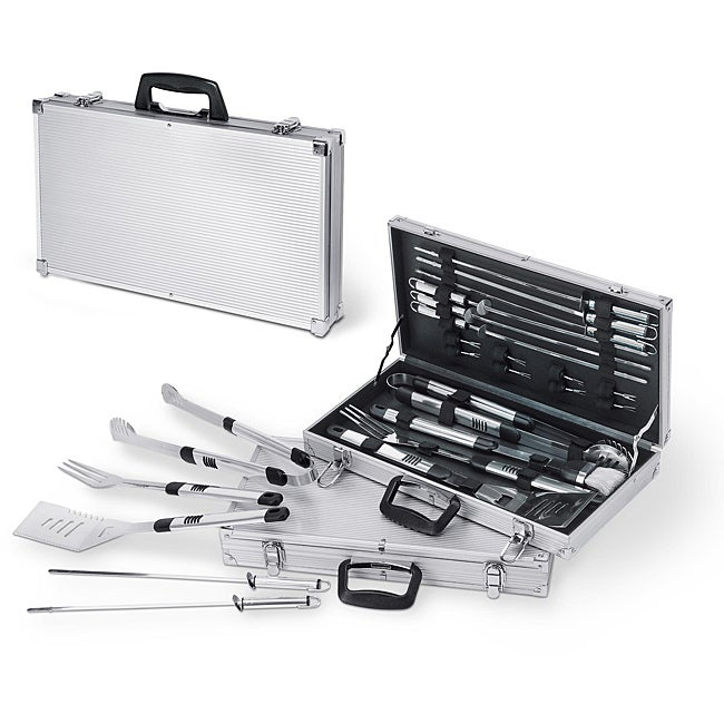Picnic Time Mirage 19-piece Aluminum Accented Barbecue Set