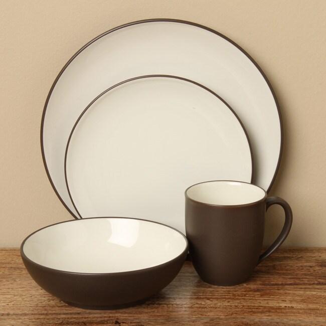 Shop Noritake Colorwave Chocolate 16-piece Dinnerware Set - Free ...
