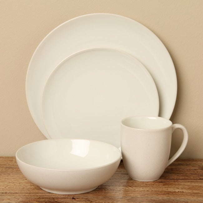 Shop Noritake Colorwave Cream 16-piece Dinnerware Set - Free ...