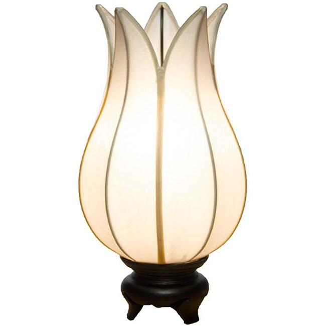 Baby Flowering Lotus White Table Lamp (Vietnam)