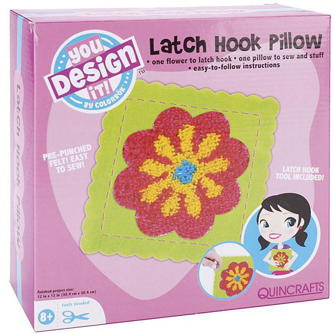 You Design It Latch Hook Flower Pillow Kit