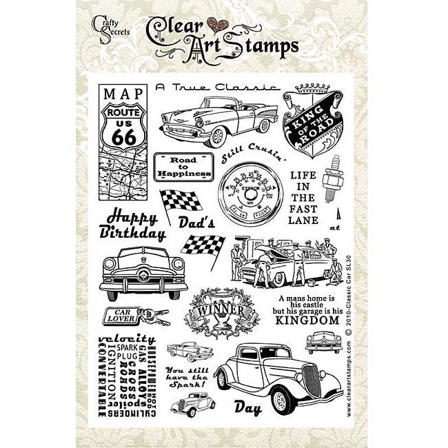 Crafty Secrets 'Car Classics' Large Clear Art Stamps