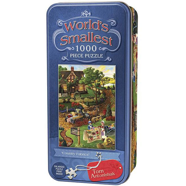 Country Fabrics 'World's Smallest Tin' 1,000-pc Jigsaw Puzzle