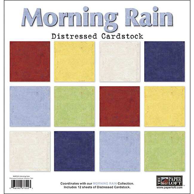 The Paper Loft Morning Rain 12x12-inch Distressed Cardstock (Pack of 12)
