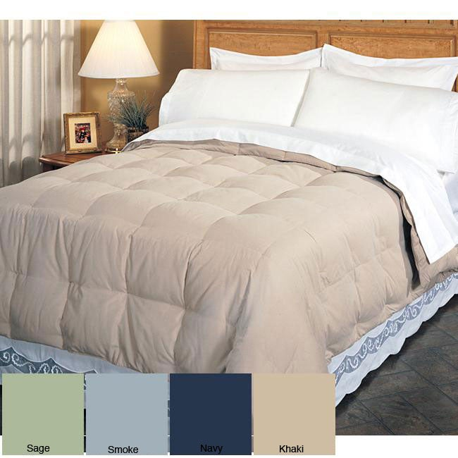 Shop Microfiber King Size White Goose Down Comforter