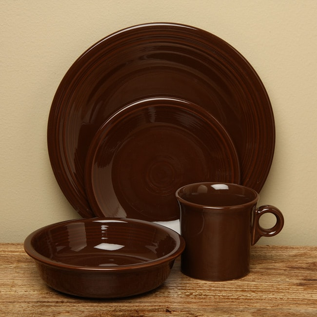 Fiesta 'Chocolate' 16-piece Dinnerware Set