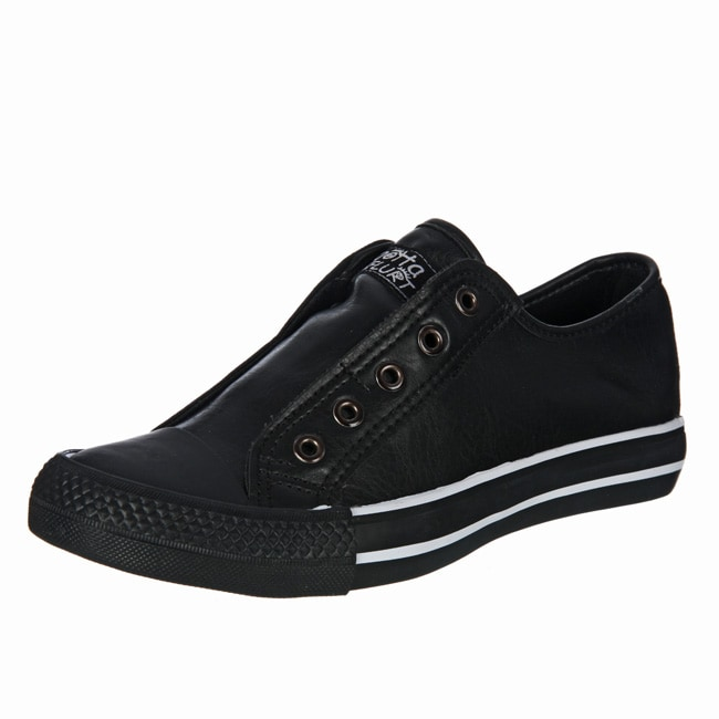 70e6f236d66 Shop Gotta Flurt Women s Black No-lace Sneakers - Free Shipping On Orders  Over  45 - Overstock - 5187627