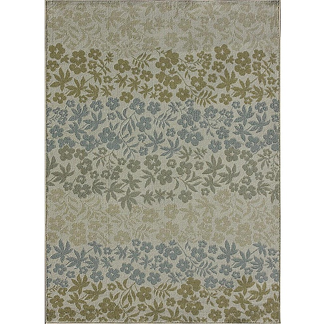 Roma Indoor/ Outdoor Soft Multi-colored Rug  (5'2 x 7'5)