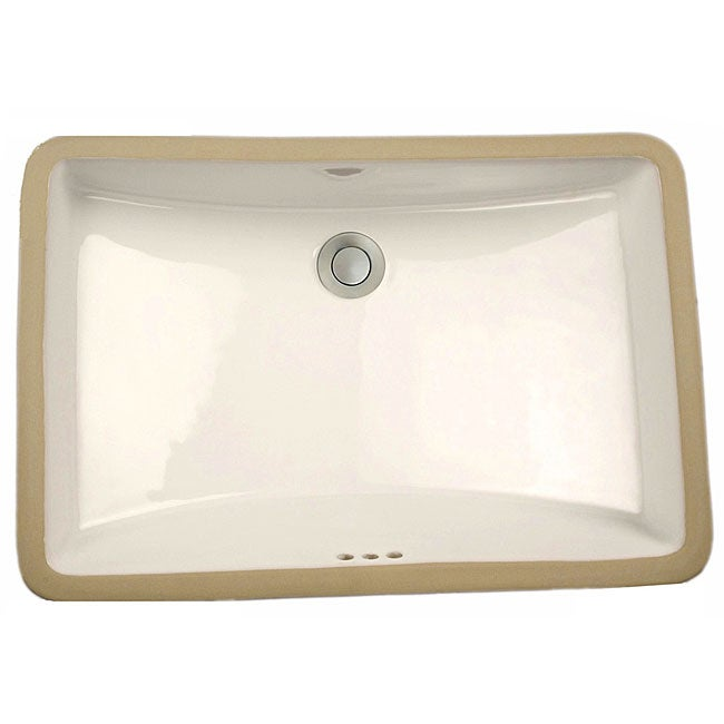 western kiln mesa white rectangular undermount sink