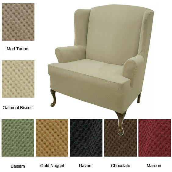 Wing Loveseat Stretch Slipcover Free Shipping Today