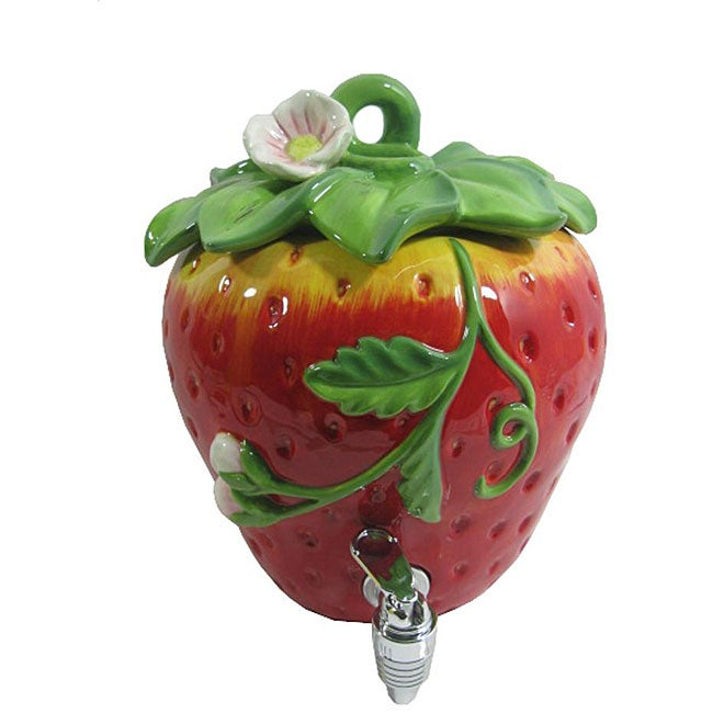 American Atelier 188-ounce Ceramic Strawberry Beverage Dispenser