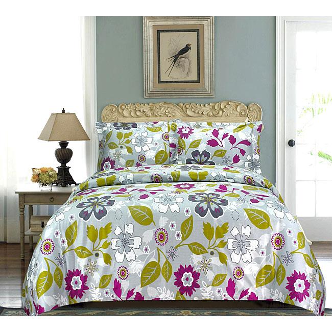 Claudia Multicolor Floral 3-piece Duvet Cover Set