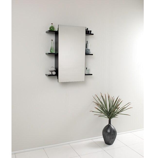 Shop Fresca Espresso Bathroom Medicine Cabinet With Sliding Mirror