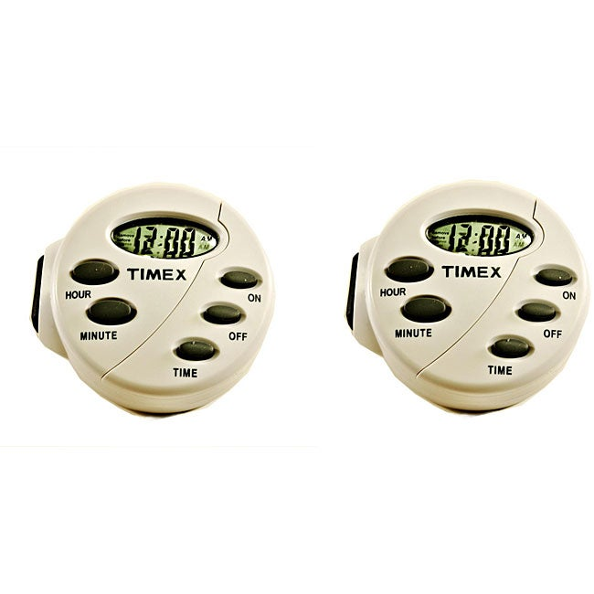 Timex TX12874X Easy-set Digital Light Timers (Pack of 2)