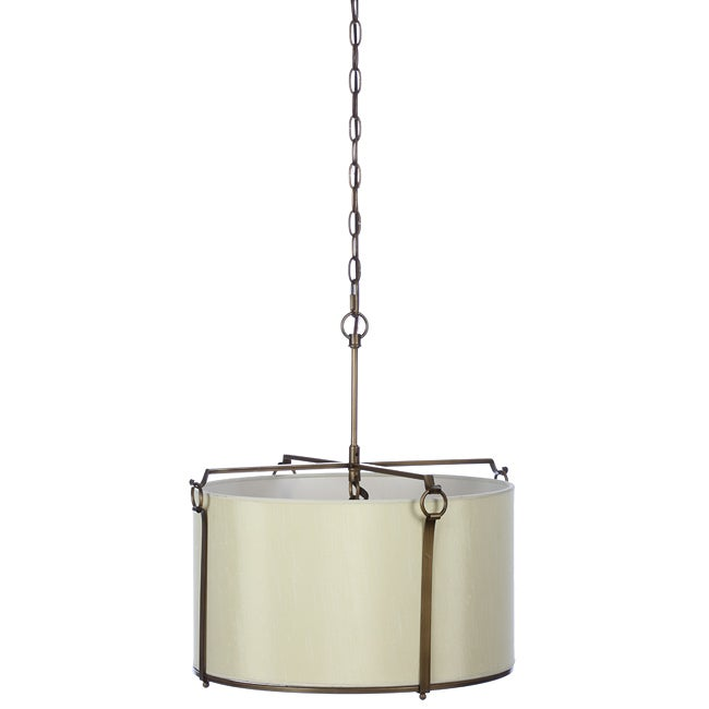 Sebu Griginal 4-light Bronze/ Cream Pendant Fixture