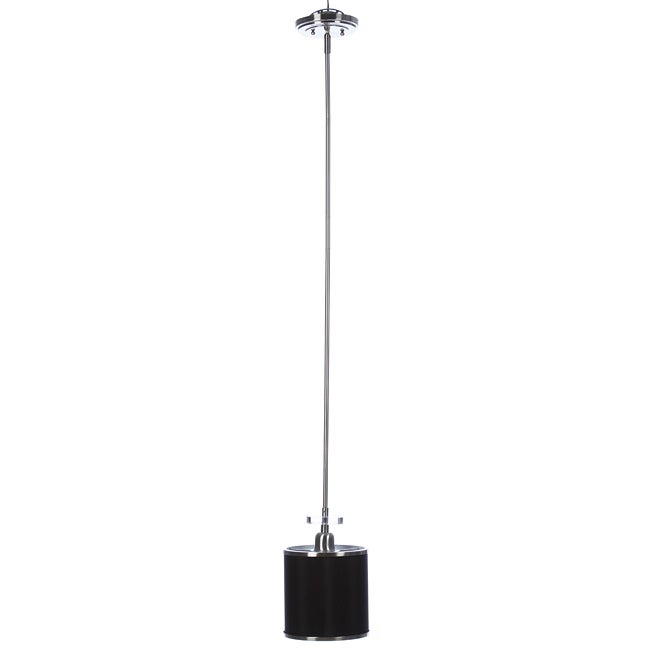Mariana 1-light Brushed Nickel/ Black Pendant Fixture