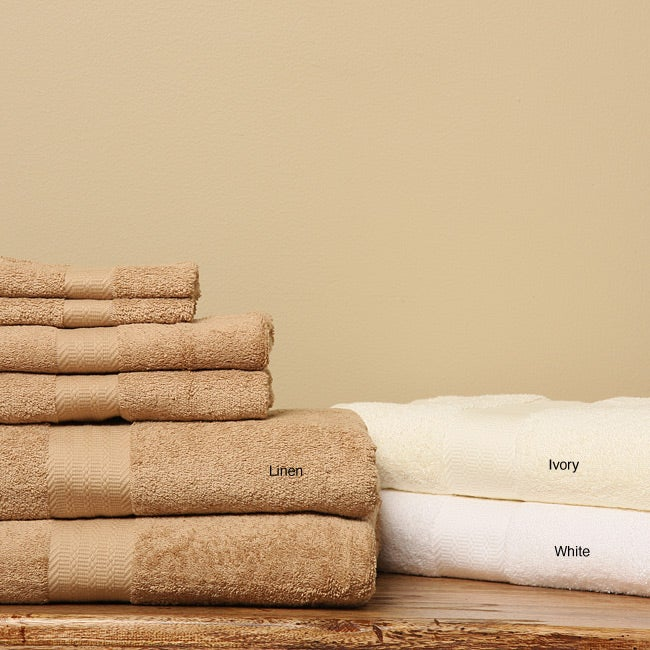 Shop Hotel Fine Linens 6 Piece Bath Towels Free Shipping On Orders