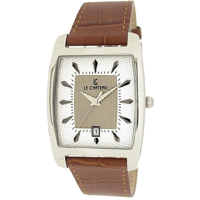 Le Chateau Men's '7074M' Classica Collection Textured Dial Watch