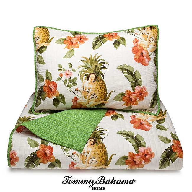 Tommy Bahama Pineapple Girl King Size Quilt Set Free