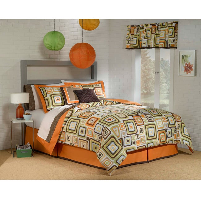 Urban Geo 7-piece Twin-size Bed in a Bag with Sheet Set