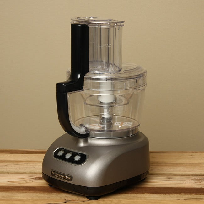 KitchenAid RKFP750CS Cocoa Silver 12-cup Ultra Wide Mouth Food Processor (Refurbished)