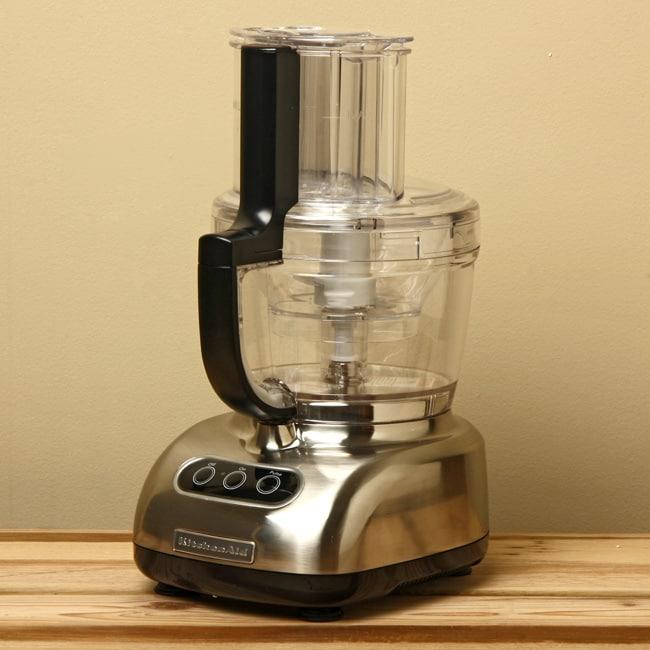 KitchenAid RKFP750NK Nickel 12-Cup Ultra Wide Mouth Food Processor (Refurbished)