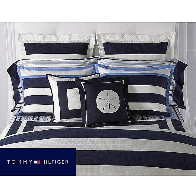 Tommy Hilfiger Captiva Queen-size 7-piece Duvet Cover Bedding Ensemble with Sheet Set