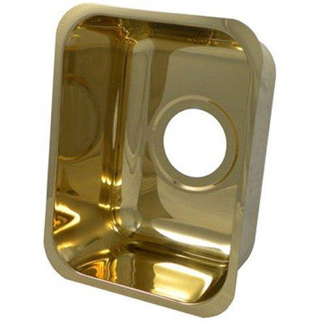Portia Rectanglular 13 Inch Polished Gold Bar Sink Free