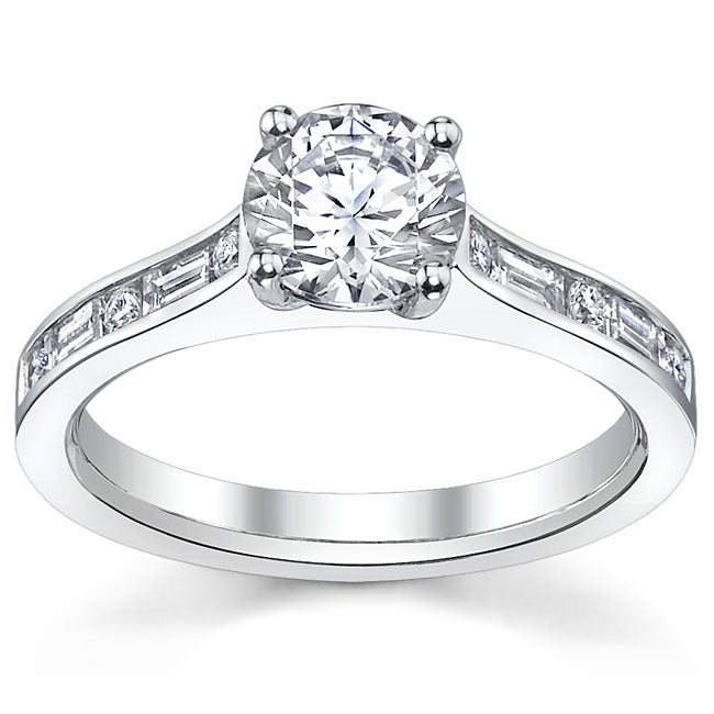 14k White Gold 3/4ct TDW Diamond Engagement Ring (H-I, SI1-SI2)
