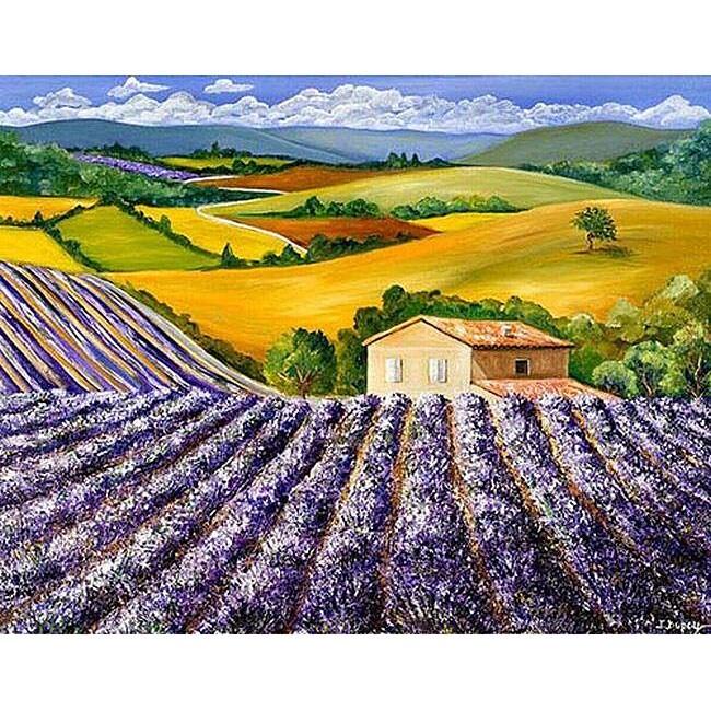 Isabelle Dupuy 'Shades of Lavender' Canvas Art