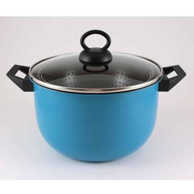 Deni Nonstick Blue 6-quart Tilt-A-Pot K26502 (Refurbished)