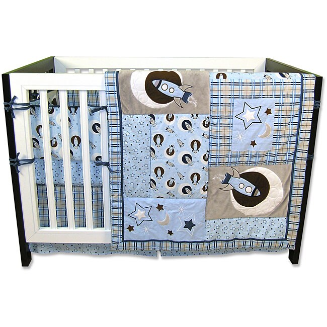 trend lab rockets 6 crib bedding set free shipping today overstock 13040551